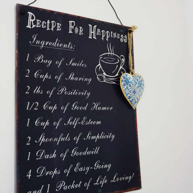 Receta para la felicidad / Recipe for happiness